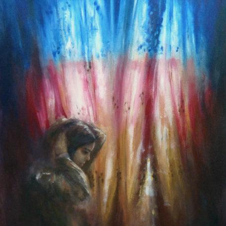 <i>Colored Light</i> - acrylic on canvas
