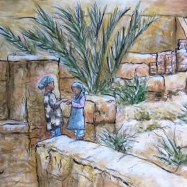 Desert Oasis – canvas print
