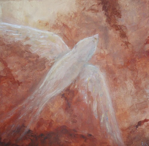 """<i>Fly</i> - 8x8""""  acrylic on canvas"""