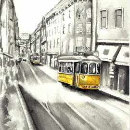 Streets of Portugal – giclee print