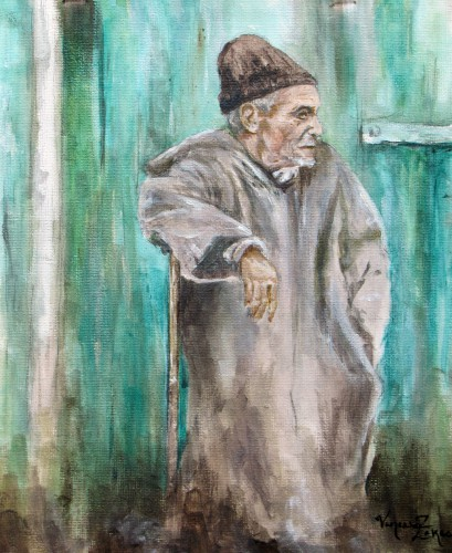 """<a href=""""http://trailsofpaint.com/time/""""><i>Time</i></a> - watercolor on paper"""