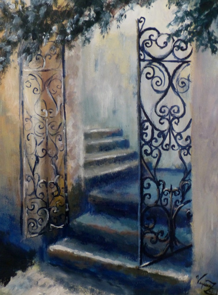 <i>The Secret Gate</i> - acrylic on canvas