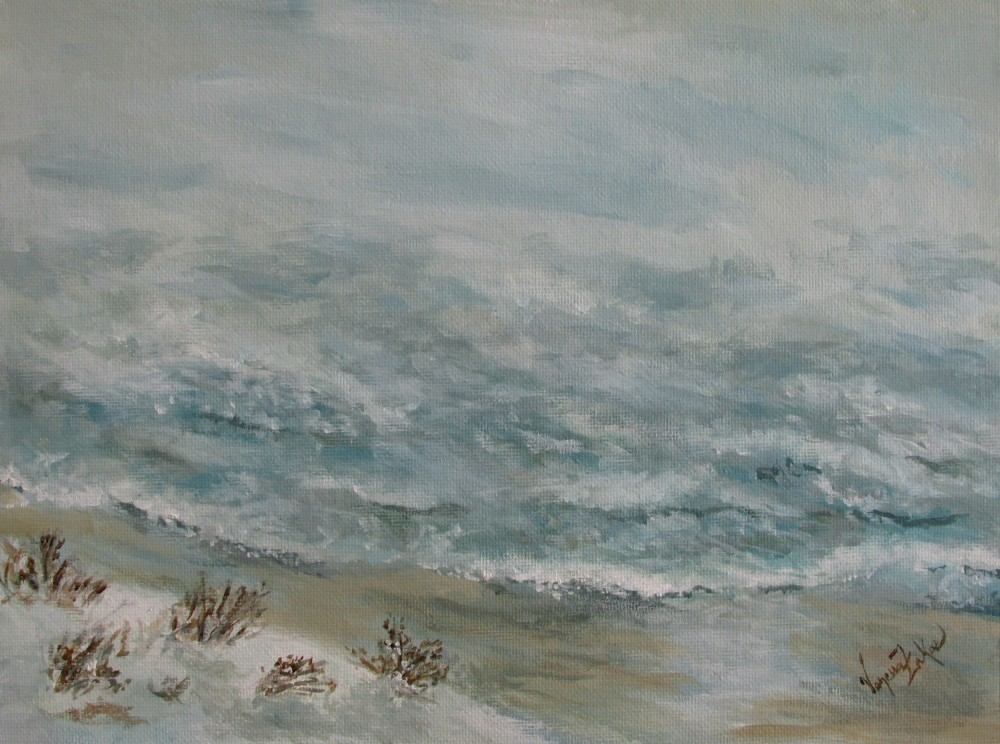 "<a href=""http://trailsofpaint.com/salisbury-beach-magic-window/""><i>Ocean Storm</i></a> - acrylic on canvas board"