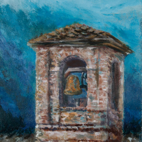 <i>Bell Tower</i> - acrylic on canvas board