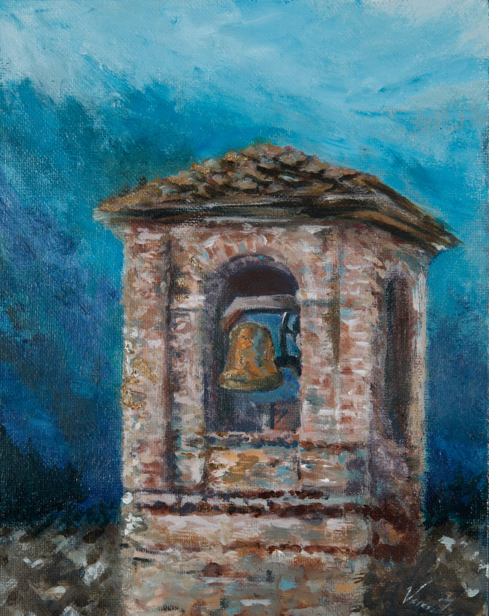 Bell Tower Giclee Print Trails Of Paint