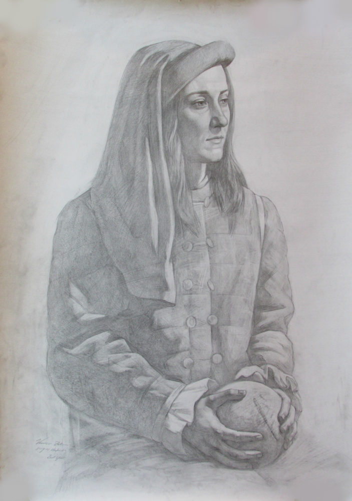 Portrait with hands